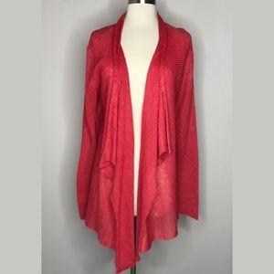 Eileen Fisher Linen Open Front Cardigan